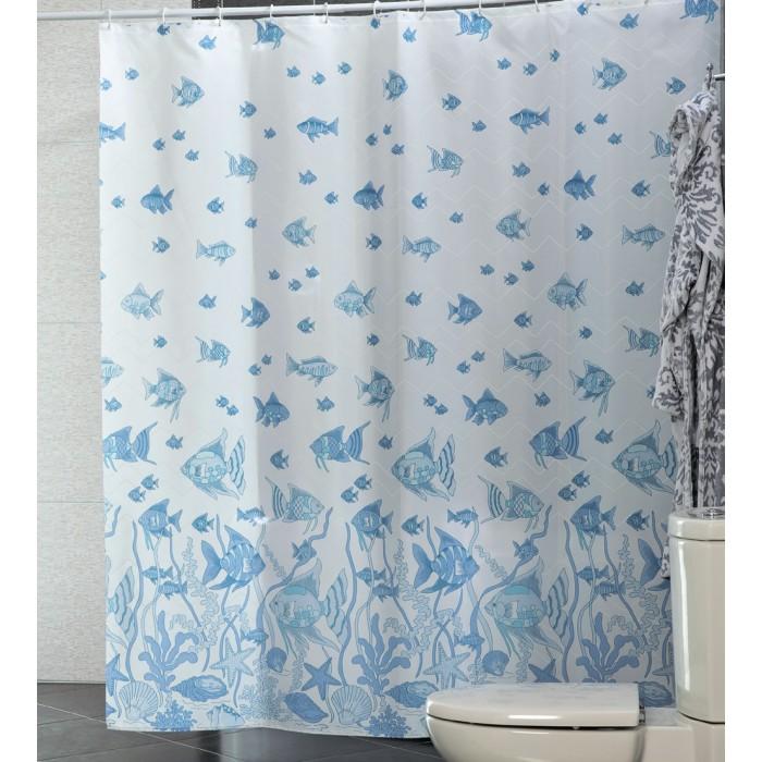Купить Шторы для ванны, Miranda Шторы для ванн полиэстер Fish 180х200 см