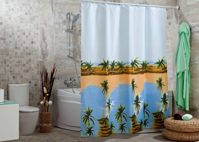 Купить Шторы для ванны, Miranda Шторы для ванн полиэстер Hawaii 180х200 см