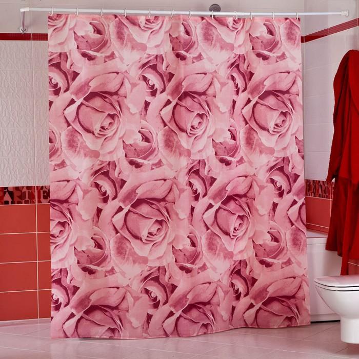 Купить Шторы для ванны, Miranda Шторы для ванн полиэстер Roses 180х200 см