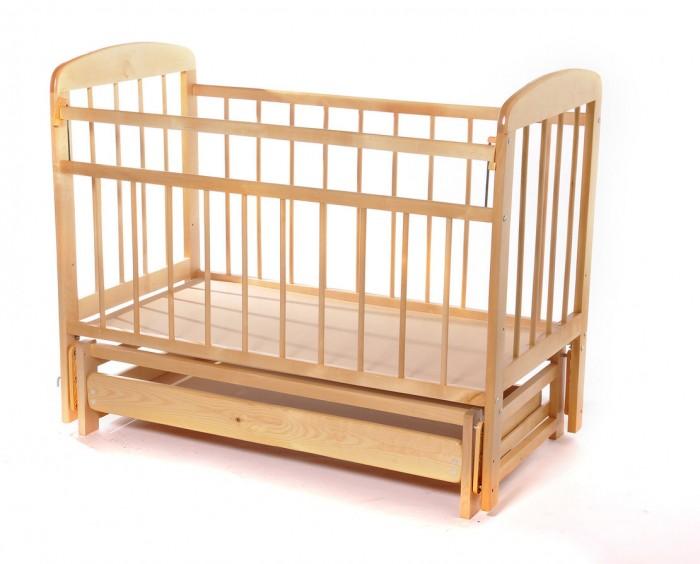Детские кроватки Мишутка 11 с ящиком маятник поперечный, Детские кроватки - артикул:597824