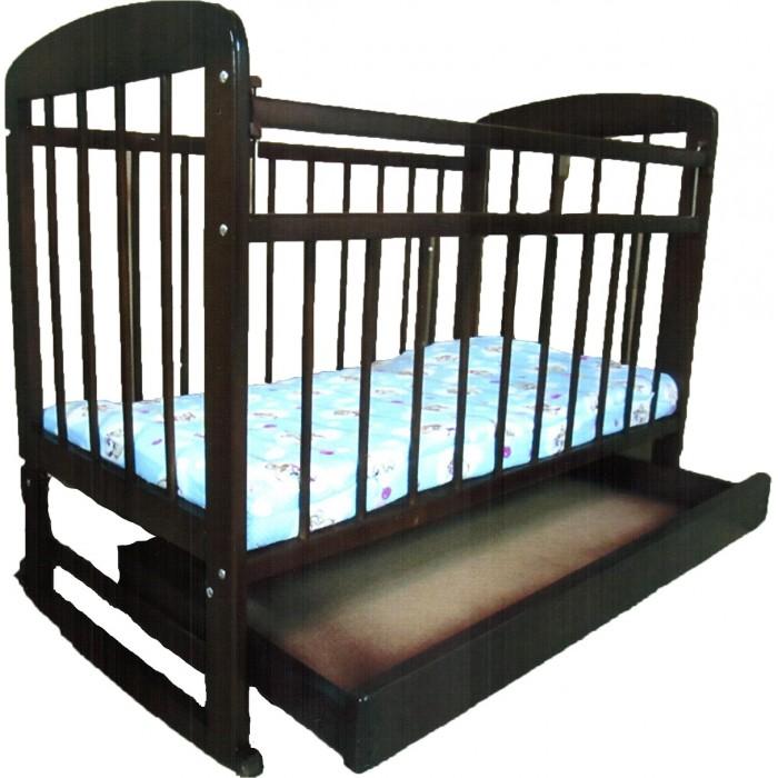 Детская кроватка Мишутка 8 с ящиком 120x60 см (качалка)