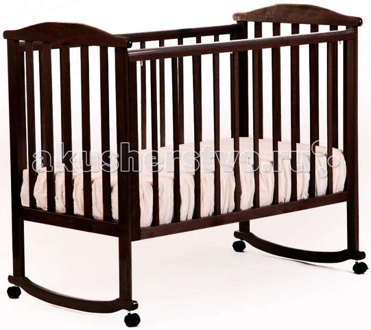 Детская кроватка Кубаньлесстрой АБ 15.0 Лютик качалка без ящика