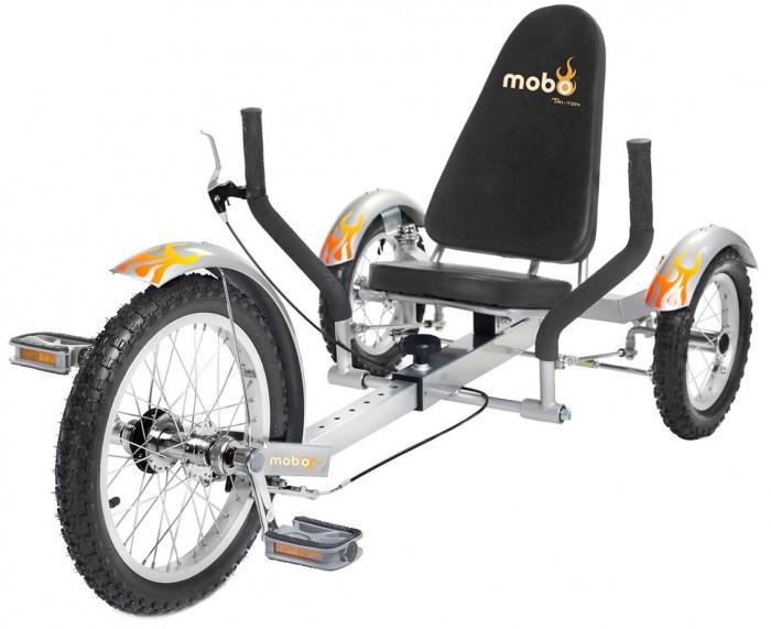 Велосипед трехколесный Mobo Круизер TritonКруизер TritonВелосипед трехколесный Mobo Круизер Triton - классический трехколесный круизер с новой инновационной системой управления. Благодаря простоте в управлении и удобству, этот круизер будет отличным помощником для активных тренировок.   У Тритона Mobo есть регулируемая рама, благодаря которой на круизере могут кататься дети ростом до 167 см. Передние и задние колеса с механизмом свободного хода. Тормоза V-брейк. Ваш ребенок получит удовольствие от поездок на Тритоне.   MOBO Triton - отличное средство для новых открытий и приключений.  Особенности: эргономичный дизайн для детей инновационная устойчивая система рулевого управления удобное сиденье с высокой спинкой ручной тормоз V-БРЕЙК нет цепи безопасно низкая посадка  надежная прочная рама, которая растет вместе с вашим ребенком до роста 167 см  флажок безопасности для лучшей видимости развивает зрительно-моторную координацию и балансирование укрепляет силу рук и ног долговечный и прочный наклейки в комплекте позволят вашему ребенку украсить круизер  стильный дизайн и модная графика. Для детей от 7 лет.   Размер круизера:  104-129.5х67.3х63.5 см<br>