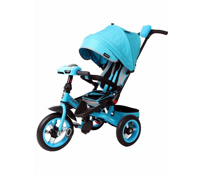 Велосипед трехколесный Moby Kids Leader 360°Leader 360°Велосипед трехколесный Moby Kids Leader 360° - это любимая модель для активных малышей в обновленном дизайне. Он понравится как детям, так и родителям. Крохе будет приятно стать самостоятельным, а мама сможет все также держать ребенка под своим контролем.  Особенности: эргономичное сиденье с высокой спинкой разворачивается на 360 градусов  складные подставки для ног комфорт с рельефным рисунком  колеса надувные на алюминиевой ободе и оснащены функцией свободного колеса  рулевая стойка складывается и оборудована светомузыкальной панелью с наклейками  родительская ручка телескопическая и имеет подстаканник  корзина для игрушек увеличенного объема  капюшон складывается и фиксируется  спинка регулируется до 30 градусов в наклон  дуга безопасности раздвигается и имеет мягкие подлокотники  ремень безопасности с накладками  велосипед оборудован ножным тормозом.<br>