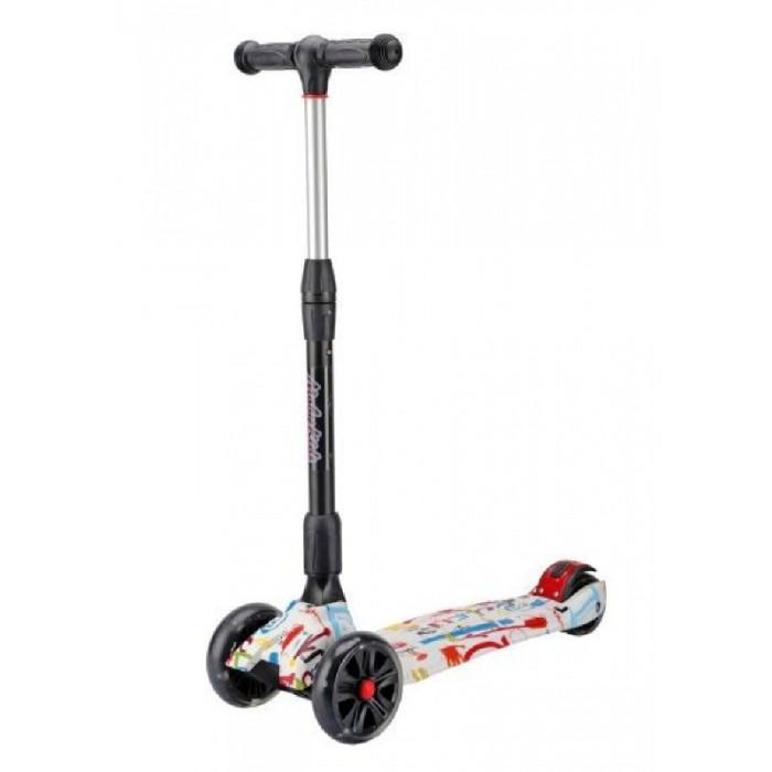 Детский транспорт , Трехколесные самокаты Moby Kids складной со светящимися колесами арт: 520586 -  Трехколесные самокаты