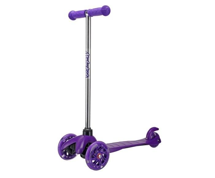 Купить Трехколесные самокаты, Трехколесный самокат Moby Kids управление наклоном со светящимися колесами
