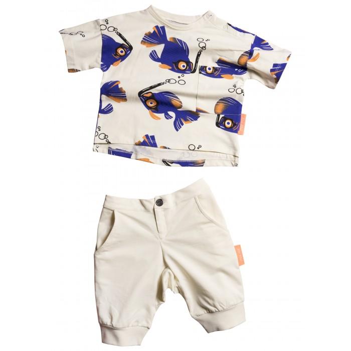 Купить Комплекты детской одежды, Moi Noi Комплект футболка и бриджи Рыбки
