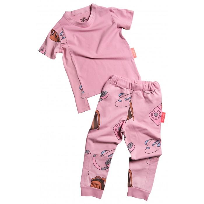 Комплекты детской одежды Moi Noi Комплект: футболка и брюки Путешествия путешествия