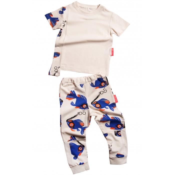 Купить Комплекты детской одежды, Moi Noi Комплект: футболка и брюки Рыбки