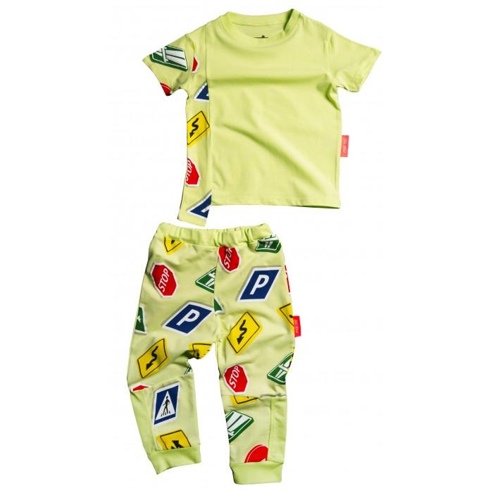 Moi Noi Комплект: футболка и брюки Знаки фото