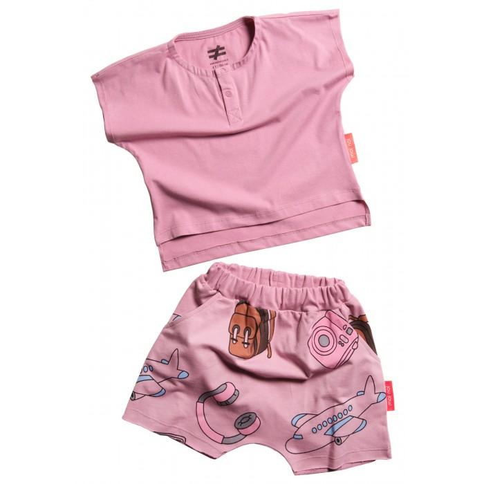 Купить Комплекты детской одежды, Moi Noi Комплект: футболка и шорты Путешествия