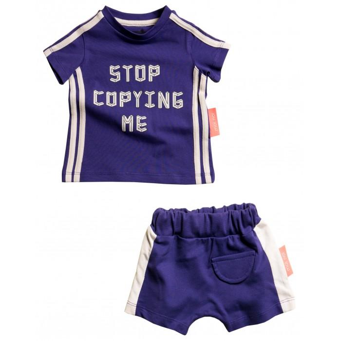Moi Noi Комплект: футболка и шорты Stop copying me фото