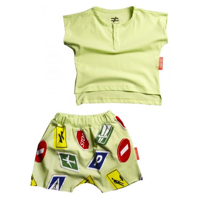 Купить Комплекты детской одежды, Moi Noi Комплект: футболка и шорты Знаки