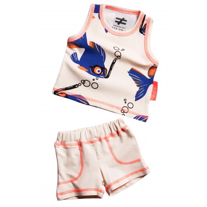 Купить Комплекты детской одежды, Moi Noi Комплект: майка и шорты Рыбки