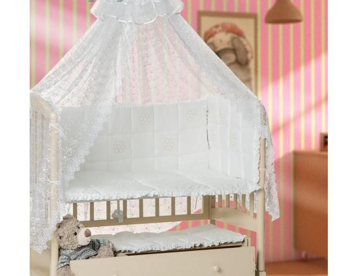 Постельные принадлежности , Комплекты в кроватку Мой Ангелок Ромашки (7 предметов) арт: 230782 -  Комплекты в кроватку