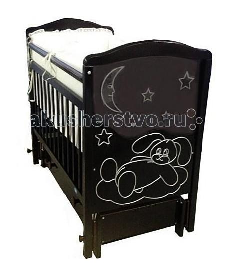 Картинка для Детская кроватка Ивашка Мой малыш 12 маятник продольный
