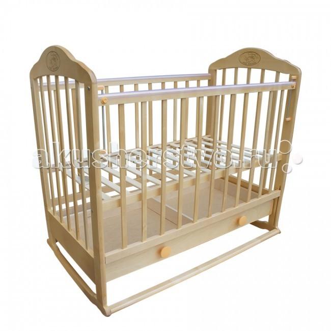Детская кроватка Ивашка Мой малыш 7 колесо-качалка