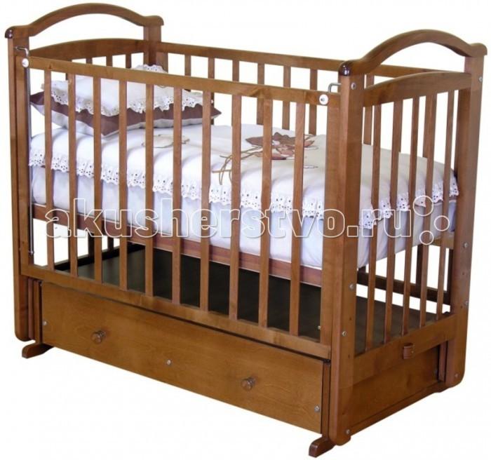 Детская кроватка Можга (Красная Звезда) Алина С-372 / C-376 (маятник поперечный)Алина С-372 / C-376 (маятник поперечный)Кроватка выпускается в двух вариантах: Алина С-376 - с ящиком. Алина С-372 - с ортопедическим ложем.   кроватка имеет маятниковый механизм поперечного качания с фиксатором;   детская кровать (376) имеет удобный ящик для хранения детских игрушек, постельного белья и других принадлежностей;  детская кровать (372) имеет ортопедическое ложе;  три уровня ложа детской кроватки;   опускающаяся боковина  спальное место (см): 120 х 60   внешние размеры кровати (см): 125 х 70 х 108<br>