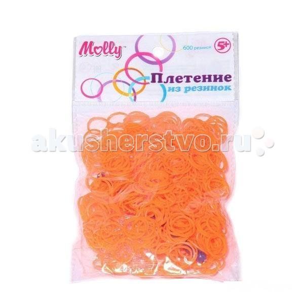 Наборы для творчества Molly Резинки для плетения гелевые 600 шт.