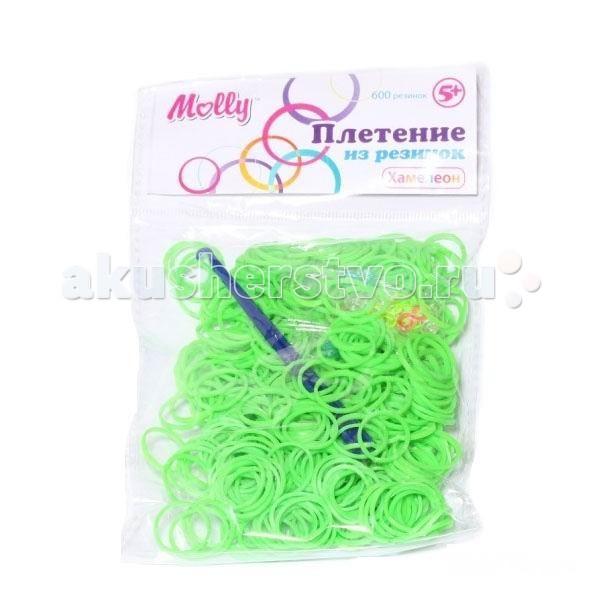 Наборы для творчества Molly Резинки для плетения хамелеоны 600 шт.