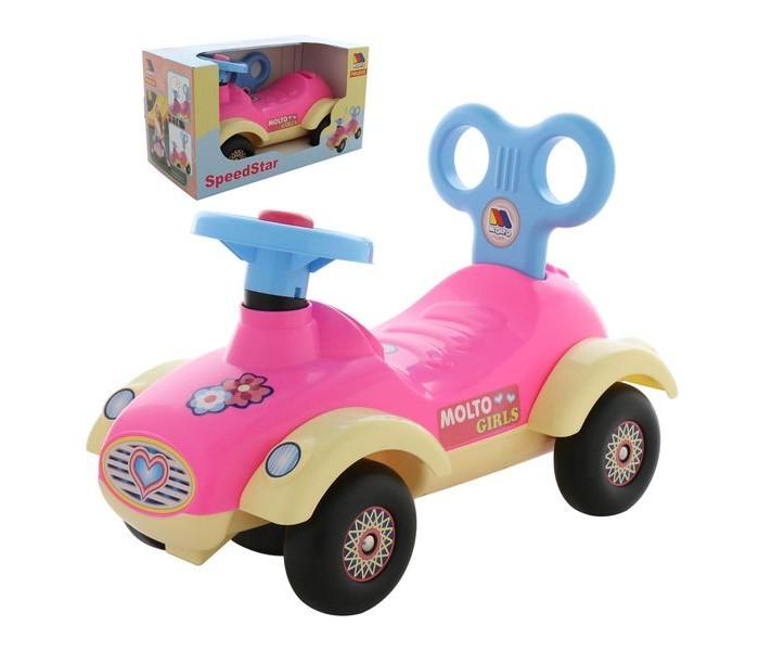 Каталка Molto Автомобиль для девочек Сабрина в коробке фото