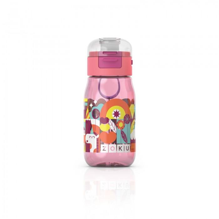 Купить Бутылки для воды, Zoku Бутылка с крышкой с рисунком 475 мл