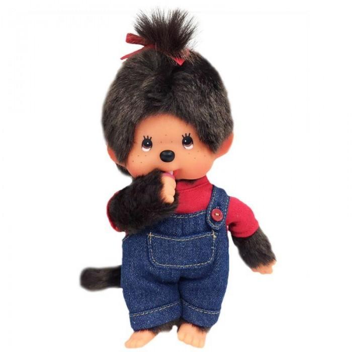 Мягкая игрушка Monchhichi Девочка в комбинезоне и футболке 20 см