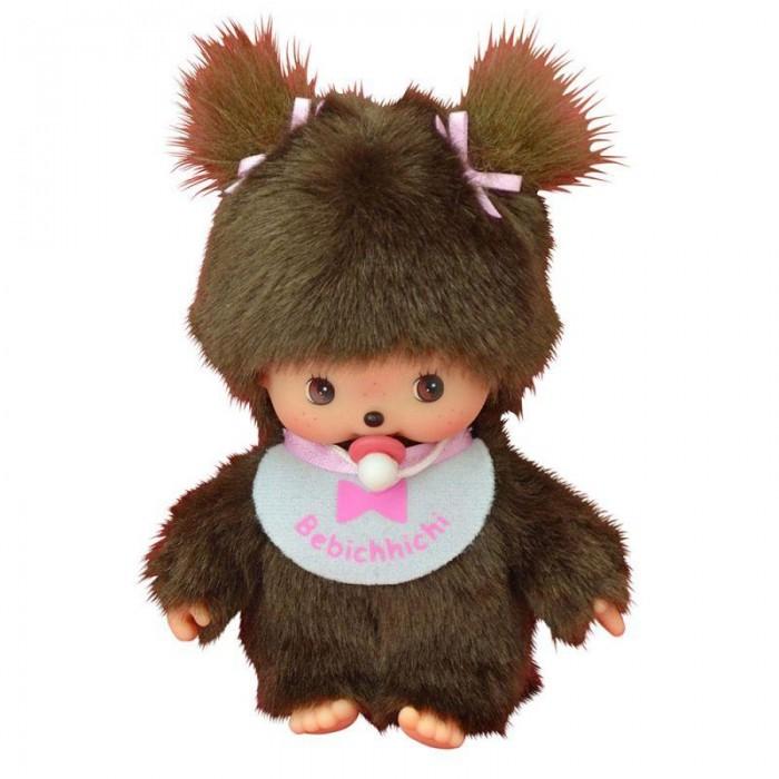 Купить Мягкие игрушки, Мягкая игрушка Monchhichi Девочка в слюнявчике 15 см
