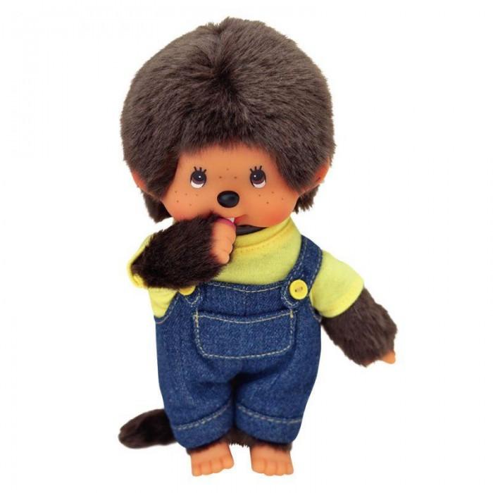 Мягкая игрушка Monchhichi Мальчик в комбинезоне и футболке 20 см
