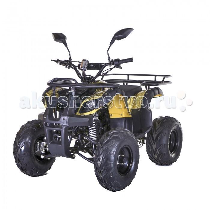 Motax Квадроцикл бензиновый ATV Grizlik Super LUX 125 ccКвадроцикл бензиновый ATV Grizlik Super LUX 125 ccКвадроцикл бензиновый ATV Grizlik Super LUX 125 cc модель нового уровня по качеству и комплектации.   4Т двигатель Zongshen, рабочим объемом 125 кубов, продвинутая полуавтоматическая трансмиссия 3-2-1-N-R, усиленная рама, увеличенный ход подвески, усиленные багажники, шаровые опоры в конструкции передней подвески. Этот квадроцикл для подростков и детей от 8 лет, но на нем с легкостью проедет и взрослый человек.  Особенности: Возраст и макс. нагрузка: от 8 до 16 лет, до 160 кг Размеры в сборе: 139 х 90 х 100 см Высота по седлу от земли: 63 см Диаметр колес: 8/8 Вес: 114 кг Двигатель и КПП: бензиновый, 125сс, 4т, макс. мощность 10 л.с., полуавтоматическая КПП Емкость топливного бака: 3.5 л Тормозная система п/з: барабанная/диск Макс. скорость: до 65 км/ч без ограничителя Размеры в упаковке и вес: 134 х 81 х 66 см, 128 кг Комплектация:  Ограничитель скорости    Чека-выключатель    Родительский контроль    Сигнализация    Автозапуск    Система запуска    Передние фары    Стоп-сигнал    Спидометр    Зеркала    Набор инструментов    Мерная канистра    Инструкция<br>