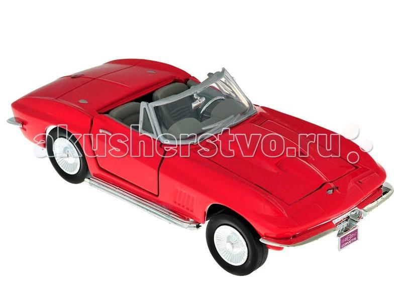 Машины MotorMax Автомобиль 1:24 1967 Corvette motormax модель автомобиля corvette 1967 цвет черный