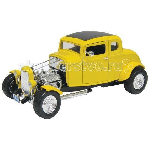 MotorMax Машинка коллекционная 1:18 1932 Ford Hot RodМашинка коллекционная 1:18 1932 Ford Hot RodMotorMax Машинка коллекционная 1:18 1932 Ford Hot Rod - один из родоначальников стрит-рейсинга, классический американский автомобиль, обязателен для приобретения в коллекцию любителей сумасшедших гонок. Хот-рот тюнингован так, что машину можно вполне причислить к произведению высочайшего искусства.   Салон модели создан с достоверностью, как и внешний вид: при создании игрушки особенное внимание уделялось мелким деталям, чтобы достичь максимальной схожести с оригинальным авто.  Сделанная из литого металла, машина имеет приятную тяжесть, а ее резиновые колеса настолько плавные, что играть с машинкой — одно удовольствие! Вы можете поворачивать руль и наблюдать за движением колес, открывать двери, багажник и капот. Катая автомобиль, ребенок развивает мелкую моторику и воображение.   Модель понравится как коллекционерам, так и юным гонщикам: созданный в масштабе 1:18 известным гонконгским брендом Motormax, автомобиль легко катится по ровной поверхности и очень выгодно смотрится на полке.<br>