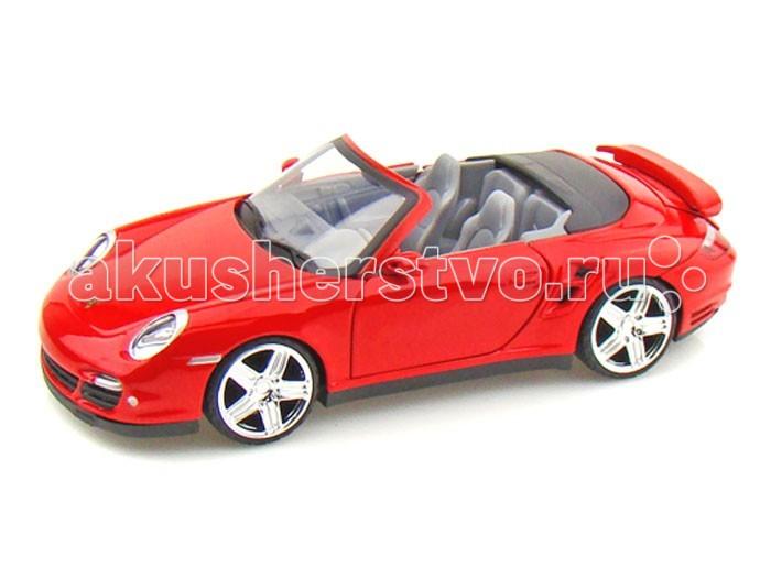 Машины MotorMax Машинка коллекционная 1:24 Porsche 911 Turbo Cabriolet самолеты и вертолеты motormax коллекционная игрушка самолет blackbird