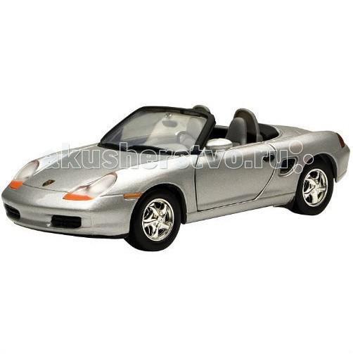 Машины MotorMax Машинка коллекционная Porsche Boxster 1:24 motormax трансформирующийся в аэропорт