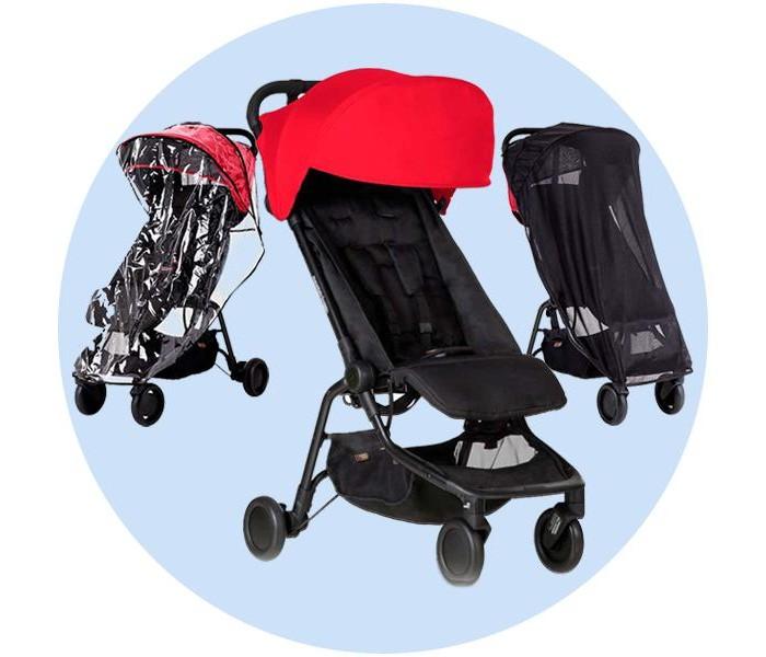 Прогулочная коляска Mountain Buggy Nano с дождевиком и москитной сеткой