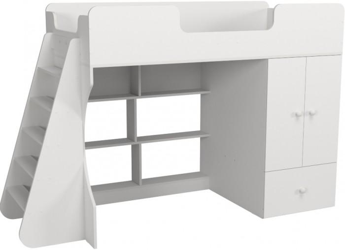 Подростковая кровать Можга (Красная Звезда) чердак Капризун 2 со шкафом Р446