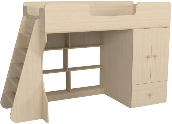 Кровати для подростков Можга (Красная Звезда) чердак Капризун 2 со шкафом Р446