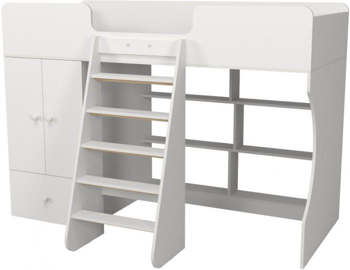Подростковая кровать Можга (Красная Звезда) чердак Р445 Капризун 1 со шкафом
