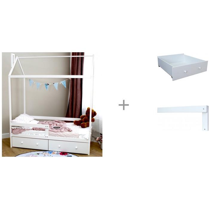 Купить Кровати для подростков, Подростковая кровать Можга (Красная Звезда) Домик Р424 с бортиком на кроватку Р423 и ящиком для кроваток Р422