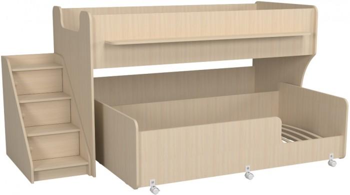 Купить Кровати для подростков, Подростковая кровать Можга (Красная Звезда) двухъярусная с лестницей и ящиками Капризун 7