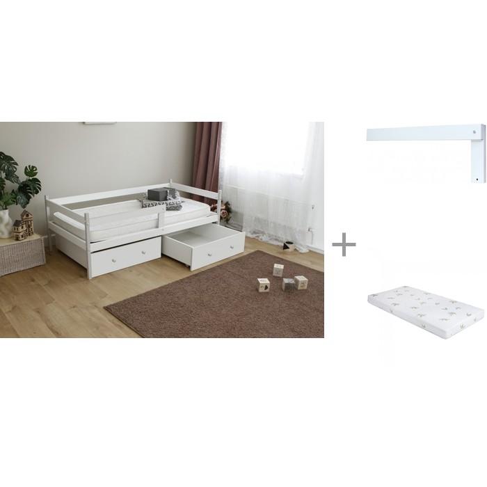 Кровати для подростков Можга (Красная Звезда) тахта Р425 с бортиком на кроватку Р423 и матрасом Incanto UOMO CHC 160x80x12 см