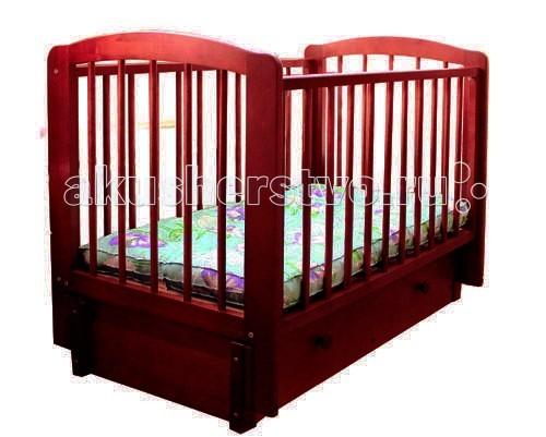 Детская мебель , Детские кроватки Можгинский лесокомбинат Кристина продольный маятник арт: 75992 -  Детские кроватки