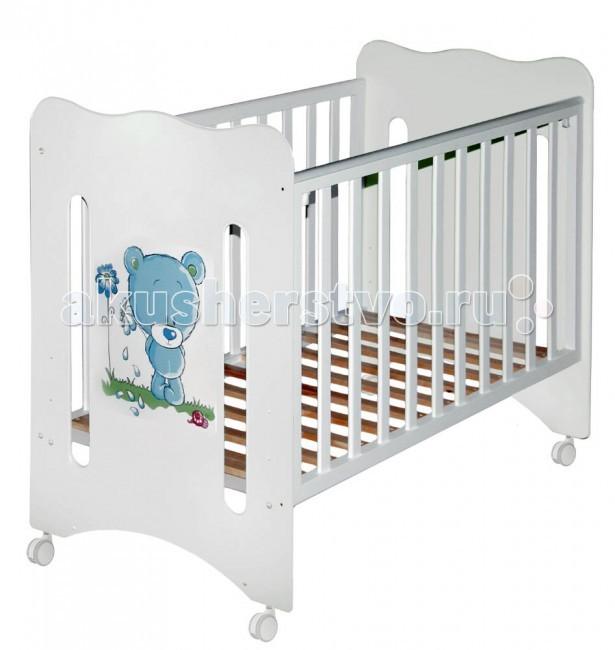 Купить Детские кроватки, Детская кроватка Можгинский лесокомбинат Laluca Руслана Медвежонок без ящика
