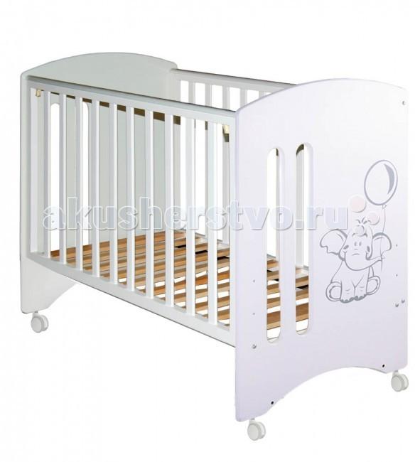 Детская кроватка Можгинский лесокомбинат Laluca Софи Слоник без ящика