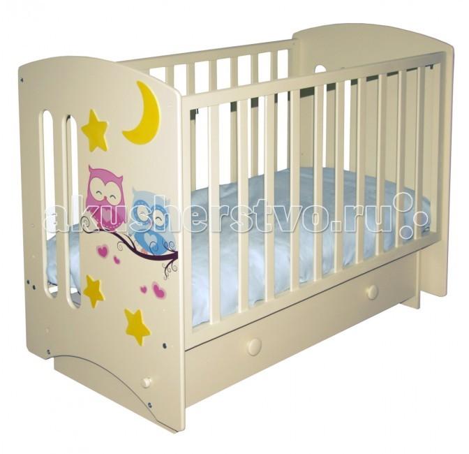 Детские кроватки Можгинский лесокомбинат Laluca Софи Совята поперечный маятник