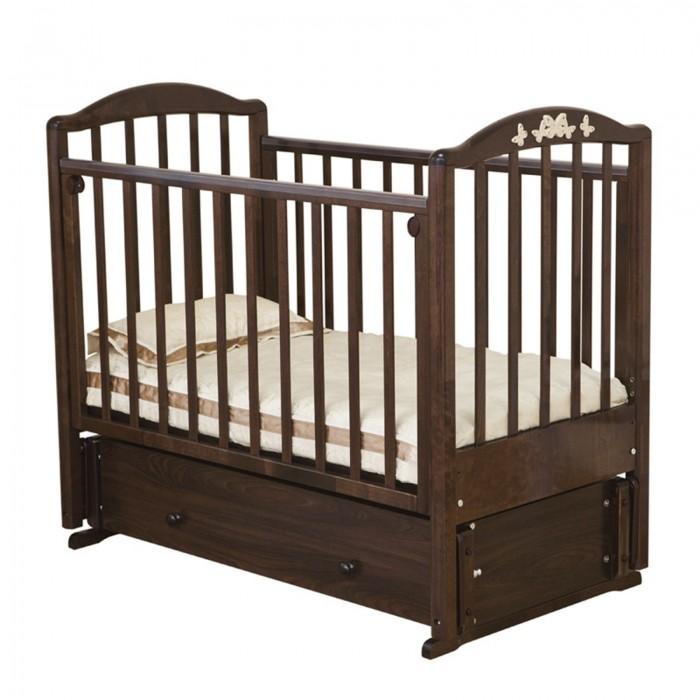 Купить Детские кроватки, Детская кроватка Можга (Красная Звезда) Регина С-580 №23 Бабочки маятник продольный