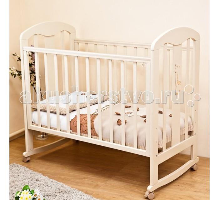 Детская кроватка Можга (Красная Звезда) С 703 ЗН Вилона накладка Жираф (качалка)  (КЗ_С703)