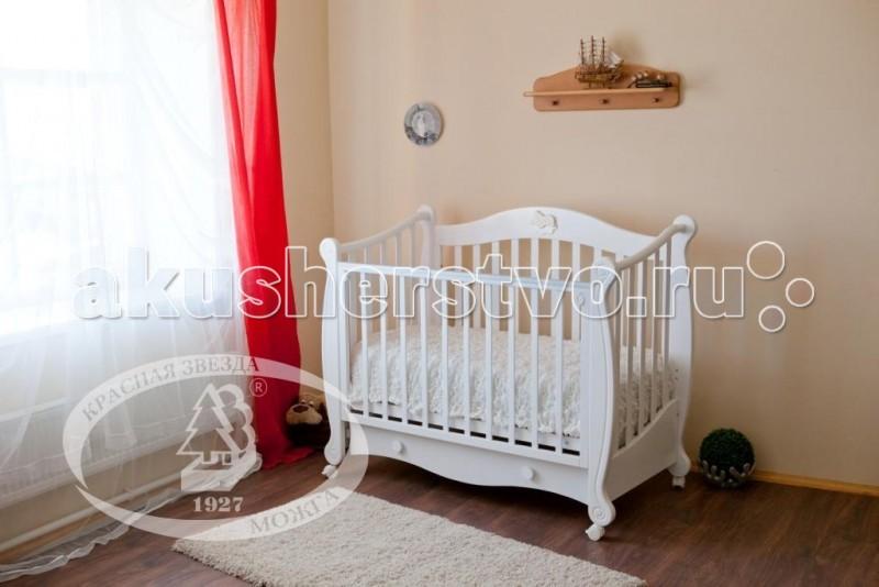 Фото #1: Детская кроватка Можга (Красная Звезда) Валерия С-749 накладка №22 Мишка на облаке