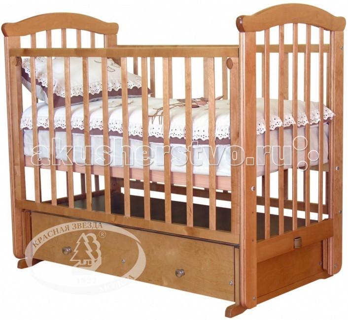 Детские кроватки Можга (Красная Звезда) Ирина С-625 маятник поперечный обычная кроватка красная звезда ирина с625 красно коричневая