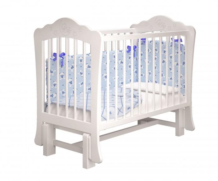 Купить Детские кроватки, Детская кроватка Можгинский лесокомбинат Амалия-2 без ящика с маятником Милано